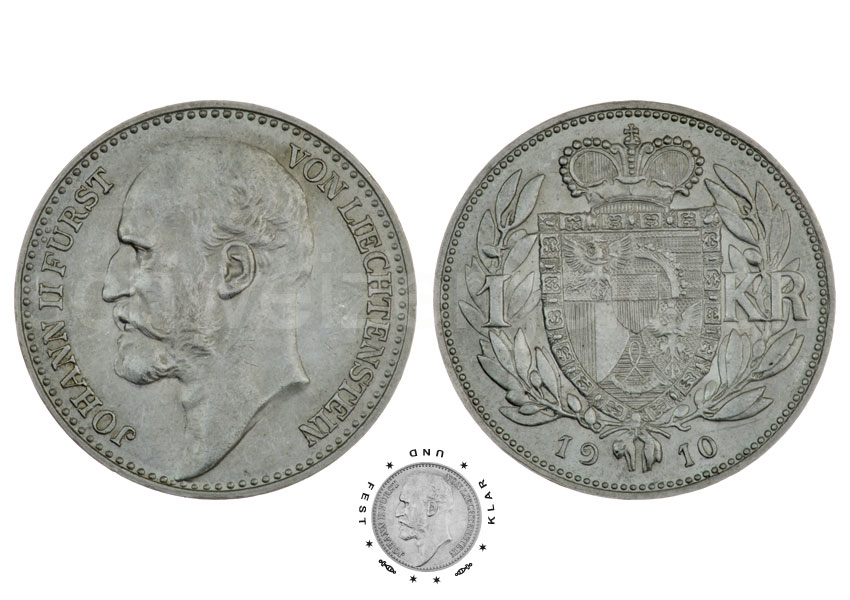 Swiss money - Johannes Müller - Liechtenstein: Currency: Krone
